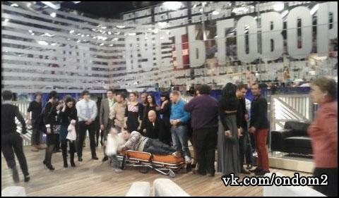 Андрей Чуев на съёмках Пусть говорят