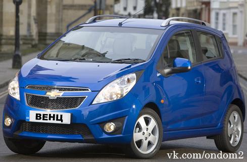 Chevrolet Spark (синий)