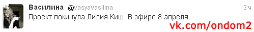 Твиттер Василины Михайловской