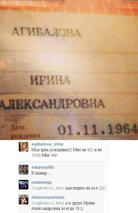 Паспорт Ирины Александровны Агибаловой