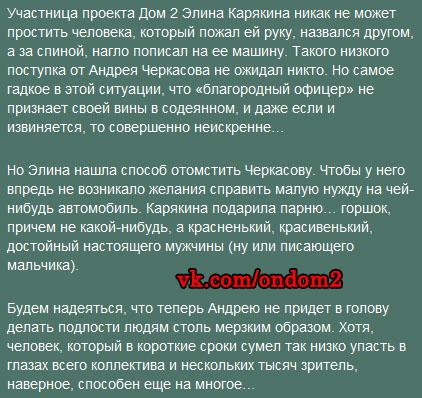 Статья про Андрея Черкасова и Элину Карякину