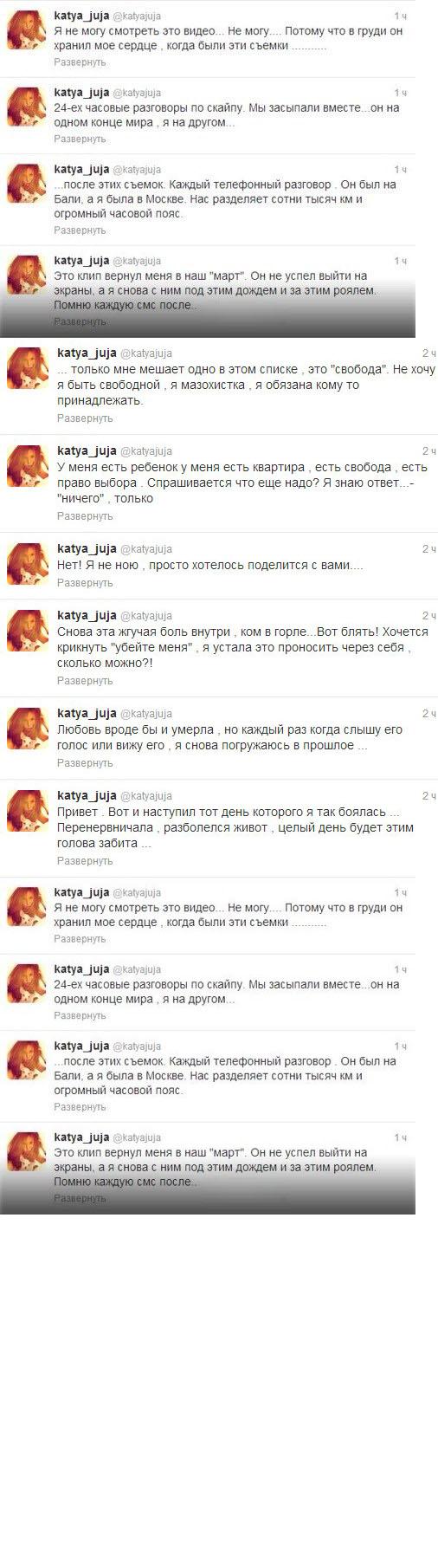 Твиттер Кати Жужи