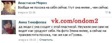 Вконтакте обсуждают Элину Карякину