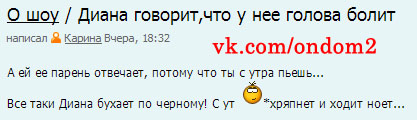 Блог на официальном сайте про Диану Игнатюк (Милонкову)