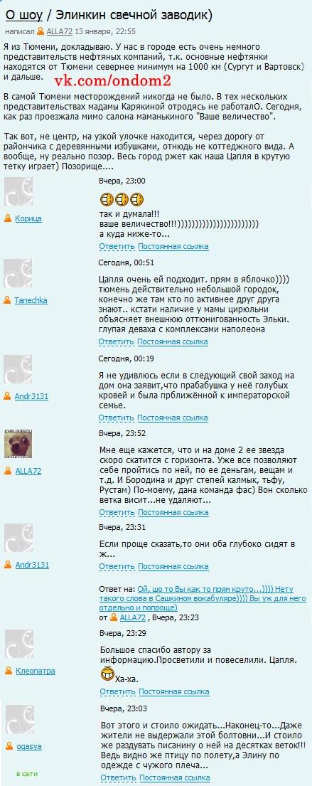 Официальный блог про Элину Карякину