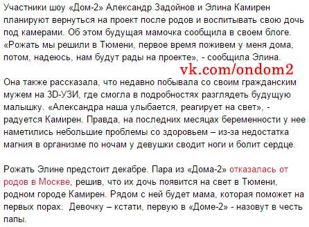 Статья про Александра Задойнова и Элину Карякину (Камирен)