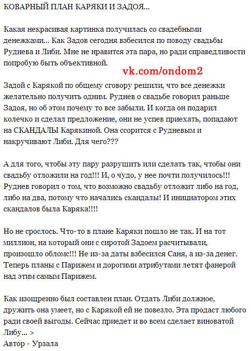 Статья про план Элины Карякиной