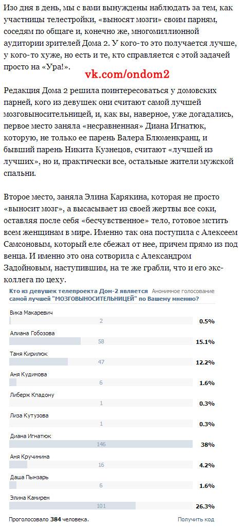 Статья про Диану Игнатюк (Милонкову)