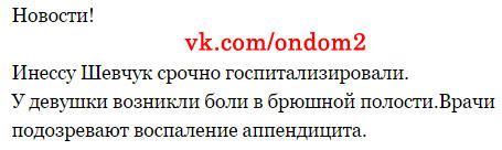 Вконтакте про Инессу Шевчук